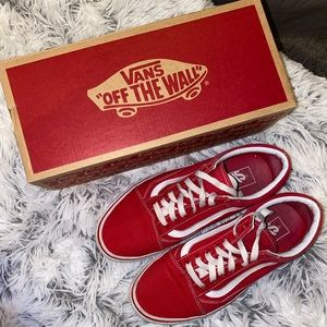 Red old skool Vans